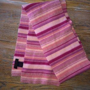 RALPH LAUREN pink stripe 96%lambswool scarf